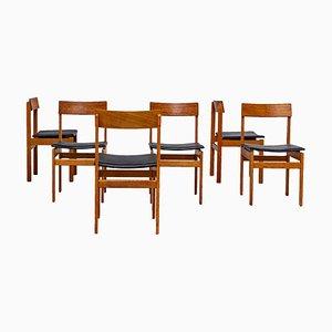 Esszimmerstühle von Jos de Mey für Van den Berghe Pauvers, 1960er, 6er Set