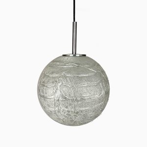 Glass and Chrome Ball Ceiling Lamp from Doria Leuchten, 1960s
