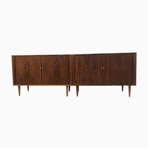 Mid-Century Danish Rosewood Sideboards, Set of 2