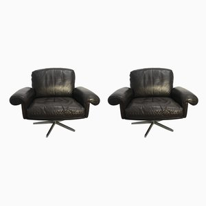 Mid-Century DS 32 Armchairs from de Sede, Set of 2
