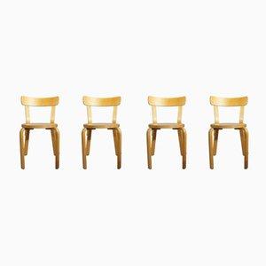 Chaises de Salle à Manger Modèle 68 par Alvar Aalto pour Artek, années 80, Set de 4