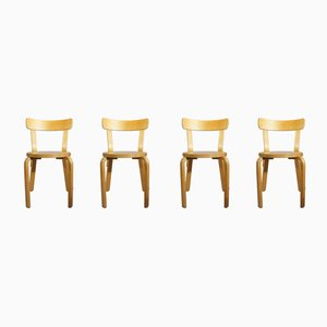 Modell 68 Esszimmerstühle von Alvar Aalto für Artek, 1980er, 4er Set