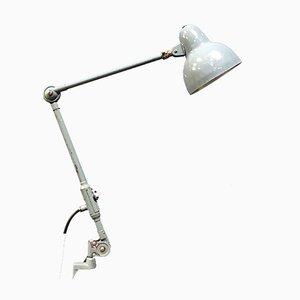 Hellgraue Klemm-Tischlampe von SIS, 1950er