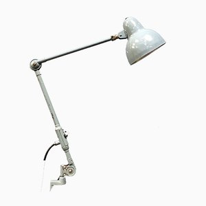 Light Gray Machine Clamp Table Lamp from SIS, 1950s
