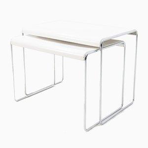 Tables d'Appoint Bauhaus de Geoffrey Lasko, 1972, Set de 2