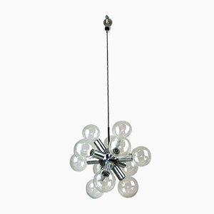 Lámpara de araña Sputnik de J. T. Kalmar para Kalmar, años 60