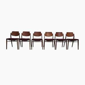 Beistellstühle von Hartmut Lohmeyer für Wilkhahn, 1960er, 6er Set