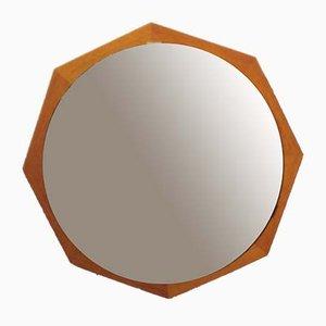 Espejo escandinavo de teca, años 60