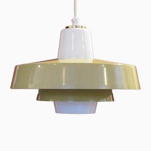 Scandinavian Mustard Yellow Ceiling Lamp, 1970s