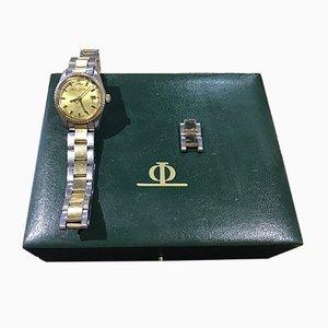 Horloge en Acier et en Or de Baume & Mercier, années 70