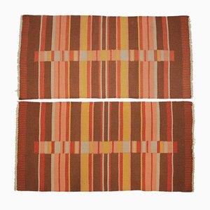 Tapis Modernistes Géométriques par Kybal, années 50, Set de 2