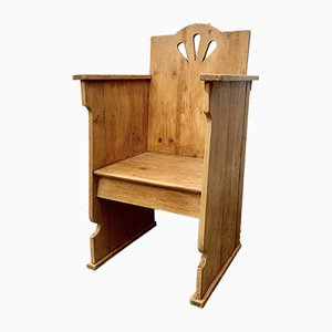 Vintage Wooden Priest's Chair