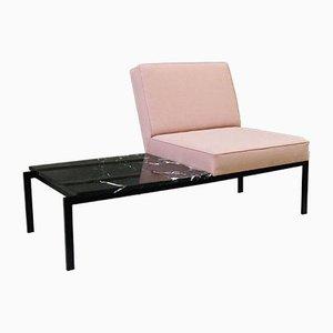 Marmorbank mit Stuhl, 1960er