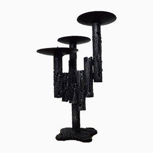 Brutalistischer Kerzenständer aus Eisen, 1960er