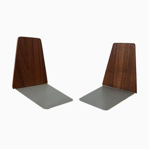 Danish Teak Bookends by Kai Kristiansen for Feldballes Møbelfabrik, 1960s, Set of 2