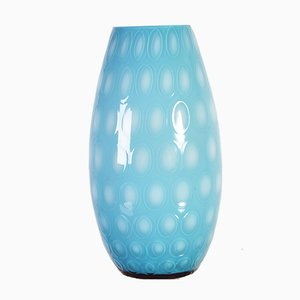 Blue Bohemia Glass Vase Nemo Collection by Max Kannegiesser for Egermann, 1960s
