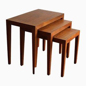 Tavolini ad incastro di Severin Hansen per Bovenkamp, anni '60, set di 3