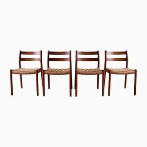 Chaises de Salle à Manger Modèle 84 par Niels Otto Møller, années 60, Set de 4