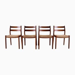 Model 84 Dining Chairs by Niels Otto Møller, 1960s, Set of 4