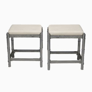 French Art Deco Stools, 1970s, Set of 2