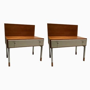 Vintage Dutch Teak Nightstands, Set of 2