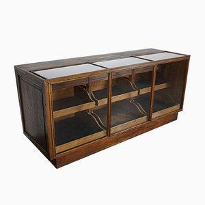 Vintage French Oak Haberdashery Cabinet
