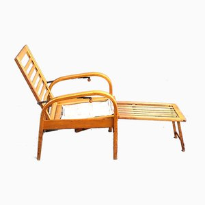 Vintage Model Caboll Bentwood Chaise Lounge by Carl Bollmann