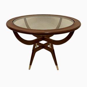 Tavolino da caffè rotondo, anni '50