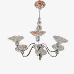 Mid-Century Crystal Lamp, 1950s