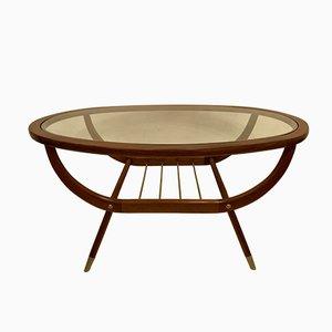 Mesa de centro ovalada, años 50
