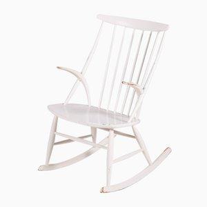 Rocking-chair Modèle IW3 par Illum Wikkelsø pour Niels Eilersen, années 50