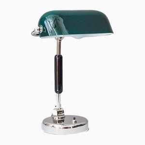 Lampe de Bureau Art Déco en Nickel Plaqué Laiton, années 20