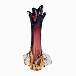 Jarrón Mid-Century de cristal de Murano de Fratelli Toso