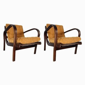 Mid-Century Lounge Chairs by Kropaček & Kozelka for Interier Praha, Set of 2