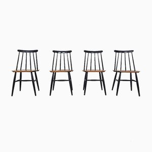 Swedish Fanett Dining Chairs by Ilmari Tapiovaara for Edsby Verken, 1961, Set of 4