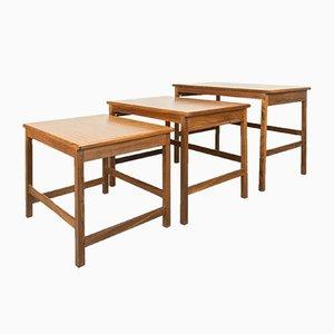 Tables Gigognes Mid-Century en Afromosie, Set de 3
