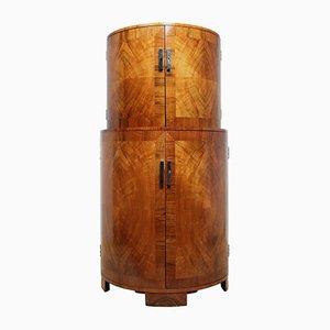 Art Deco Walnut Cocktail Cabinet, 1930s