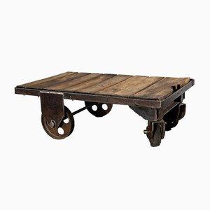 Vintage Industrial Trolley Coffee Table