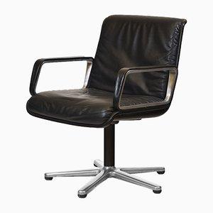 German Aluminium & Leather Desk Chair from Wilkhahn, 1970s