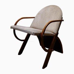 Mid-Century Plywood Curved Armchair