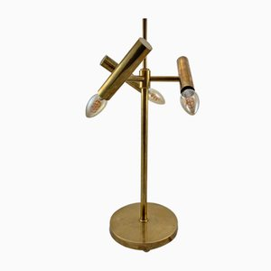 Danish Brass Table Lamp, 1940s