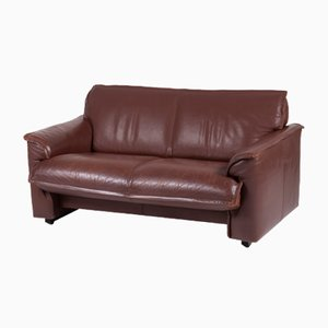 Dutch Chocolate Brown Leather Sofa from Leolux, 1970s
