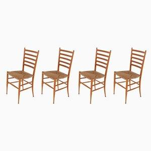 Italienische Spinetto Stühle, 1960er, 4er Set