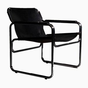 Niederländischer Stuhl mit Röhrengestell & Sattelleder, 1960er