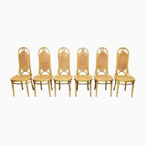 Chaises de Salle à Manger Modèle 17 de Thonet, années 80, Set de 6