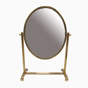 Italian Brass-Framed Vanity Mirror, 1950s