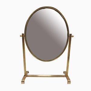 Miroir de Courtoisie Encadré de Laiton, Italie, années 50