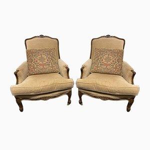 Antike französische Sessel, 2er Set