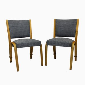Bow Wood Dining Chairs by Wilhem von Bode for Steiner, 1950s, Set of 2