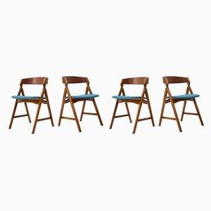 Chaises de Salle à Manger par Henning Kjærnulf pour Boltinge Støle Møbelfabrik, années 60, Set de 4